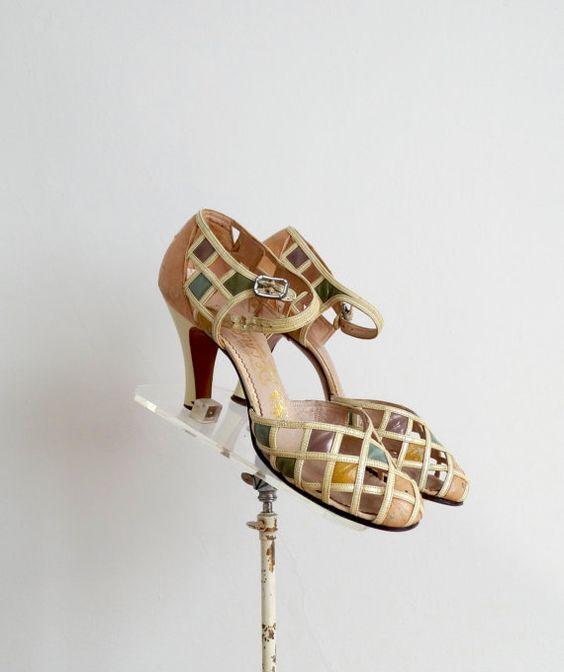 Jahrgang der 1930er Jahre Schuhe der 30er Jahre von BohemianBisoux