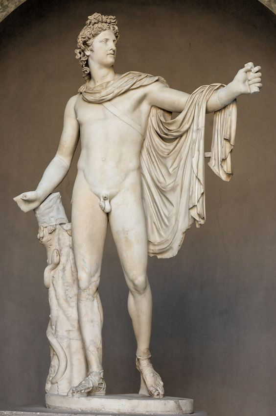 Apollo Belvedere ancient Roman sculpture in the Vatican.: