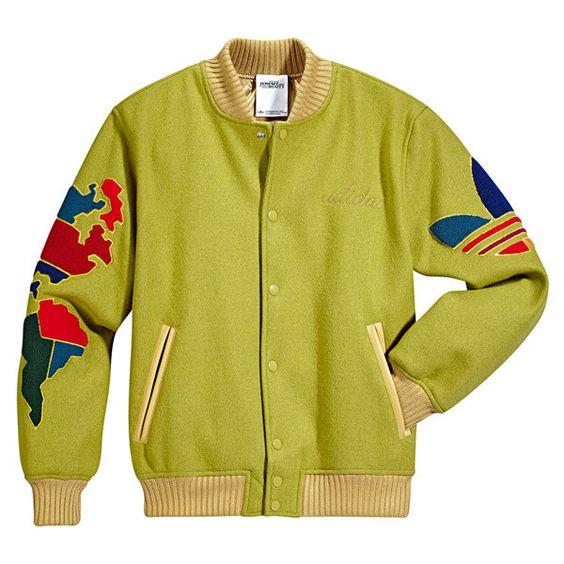 Adidas Originals Jeremy Scott JS Globe Varsity Letterman Jacket ❤ i neeed this jackett. 10000percent obsessed