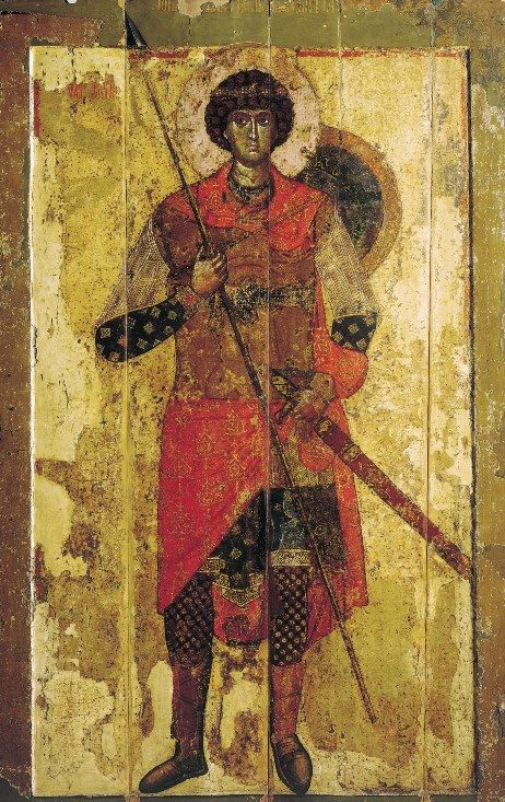 Icon of St. George, Novgorod, 1130 – 1140s