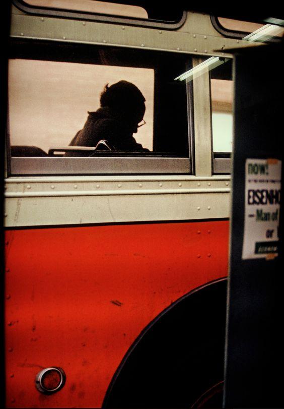 bus, new york, 1954 • saul leiter