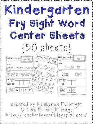 math worksheet : kindergarten fry sight word center sheets free!!  sight words  : Kindergarten Sight Word Practice Worksheets