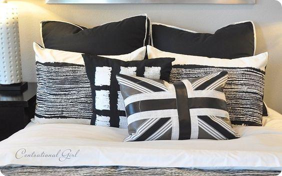 Leather and burlap Union Jack cushion, via Censational Girl