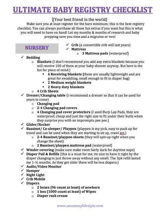 Baby registry checklist, everything youu0027ll need for a new baby - baby registry checklists