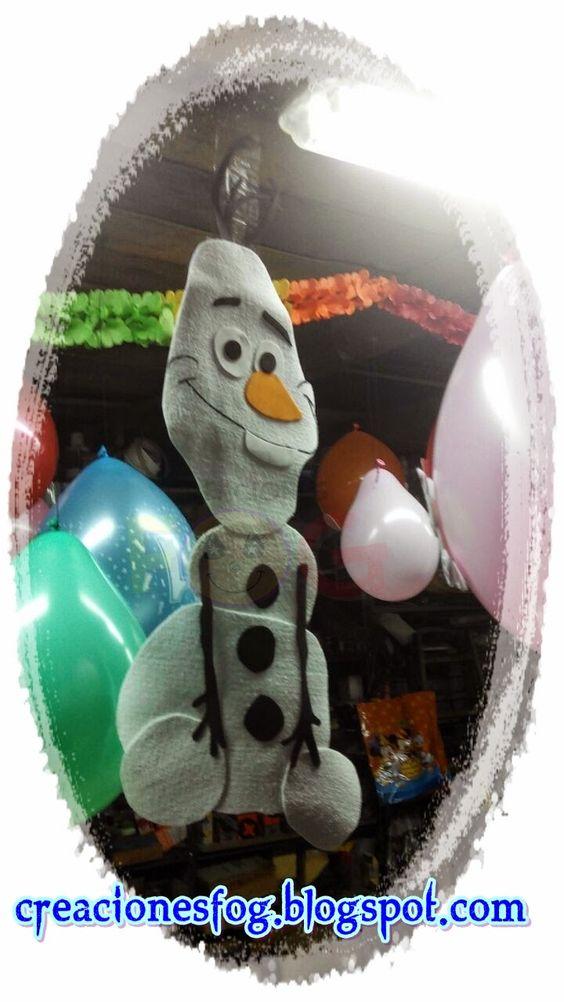 creaciones FOG: Olaf y el invierno en goma eva