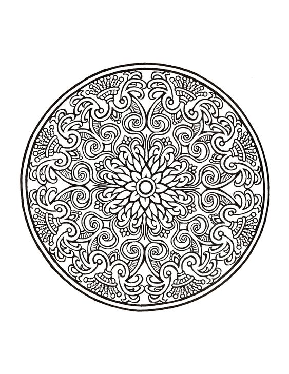 Coloring Mandala Coloring And Coloring Books On Pinterest