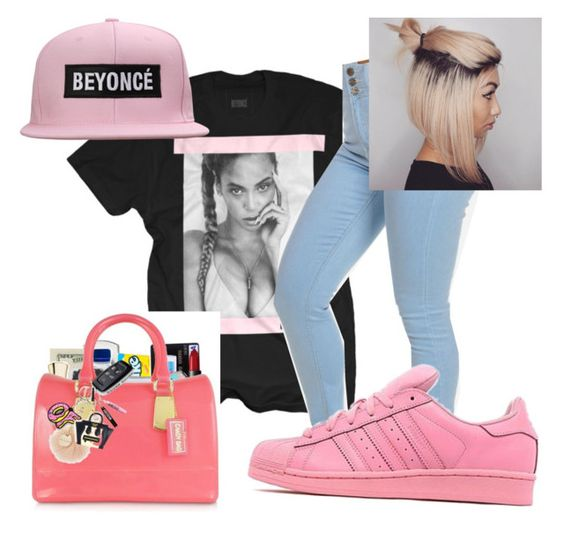 """beyonce"" by candyyumyum5 ❤ liked on Polyvore featuring adidas Originals, women's clothing, women, female, woman, misses and juniors"