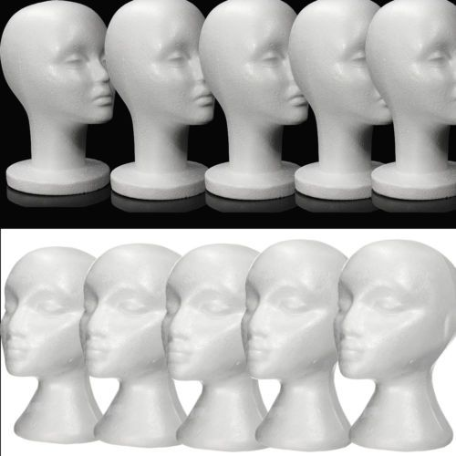 #Female polystyrene mannequin dummy wigs hat cap head shop #display #holder stand,  View more on the LINK: http://www.zeppy.io/product/gb/2/171835640002/