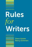 Rules for Writers from Bedford/St. Martin's