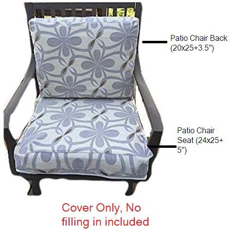 Patio Chair Seat Cushion Cover Or Chair Back Cushion Cover In 2020 Chair Seat Cushion Seat Cushion Covers Patio Chairs
