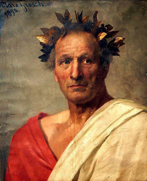 César: Porträt gemalt von Clara Grosch
