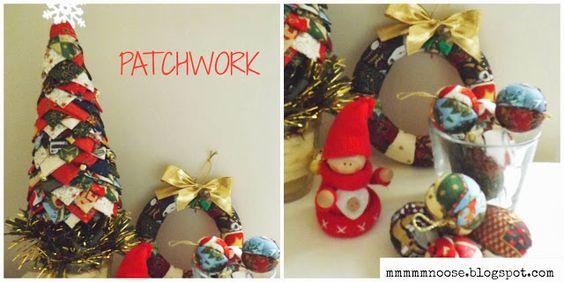 NAVIDAD!! ADORNOS DE PATCHWORK CHRISTMAS