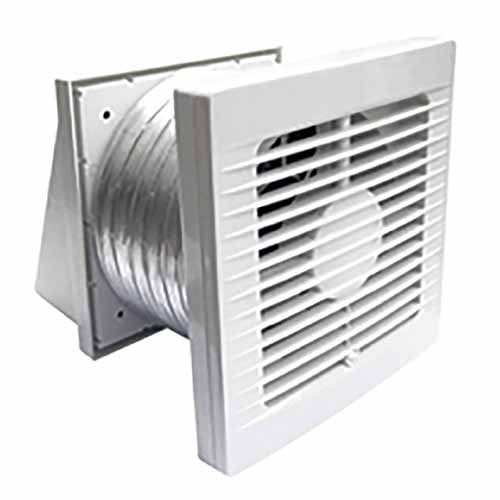 Manrose Through Wall Fan Kit 150mm White Bathroom Ventilation Fan Ventilation Fan Wall Fans