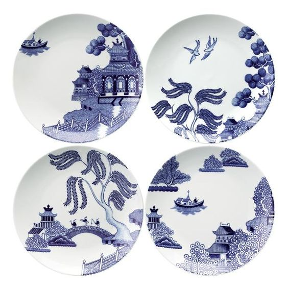 Willow Love Story Set of 4 21cm Salad Plate