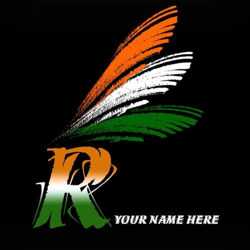 Write Name On R Alphabet Special Independence Day Wishes Whatsapp
