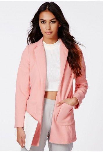 Vanessa Tailored Coat In Dusky Pink - Coats & Jackets - Coats ...