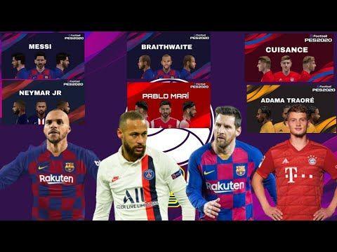 Download Face Pack Mini Hd Pes Efootball V2 2020 Ppsspp Messi Neymar Braithwaite Greizmann Youtube In 2020 Neymar Messi Pro Evolution Soccer