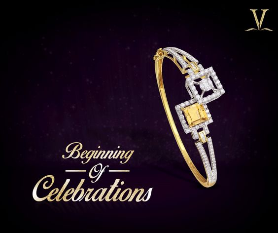 Complement your ethnic charm with this gold and diamond studded bracelet. #BeginningOfCelebrations