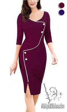 Bayan Elbise Vintage Tasarim Diz Hizasi Bayan Elbise Online Elbise Ucuz Elbise Elbise Satin Al Abiye Elbise Elbise Moda Vestidos Profissionais Moda Evangelica