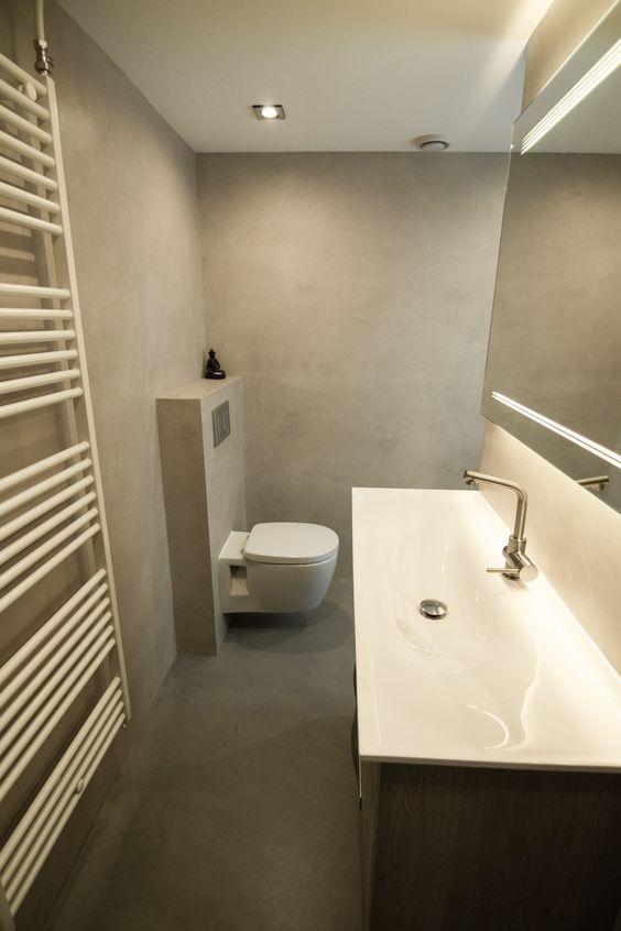 Badkamer tendenzadesign beton cire b ton cir badkamers pinterest - Badkamer beton wax ...