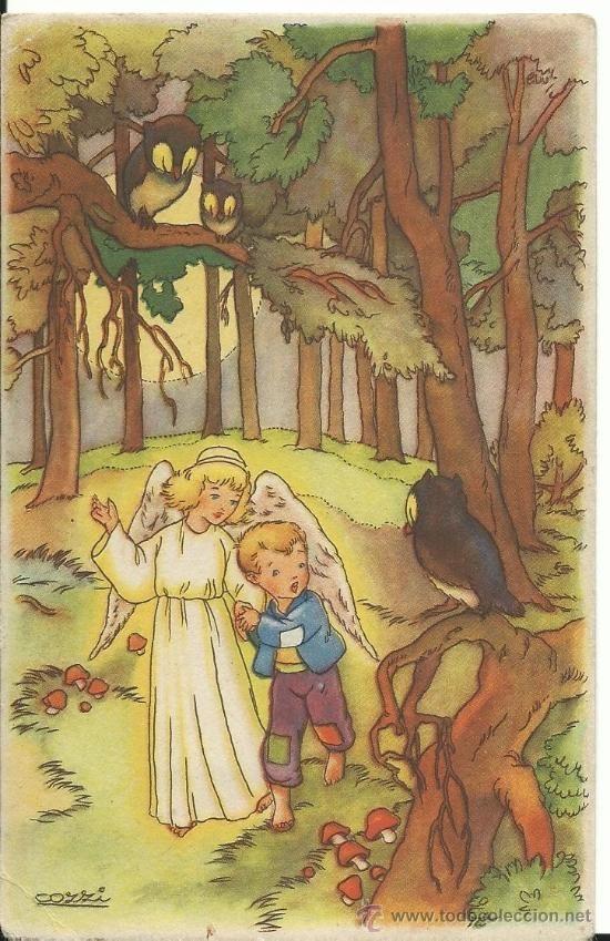 POSTAL EDICIONES COLON.- ILUSTRADOR COZZI.- SERIE 118/9 (Postales - Dibujos y Caricaturas)