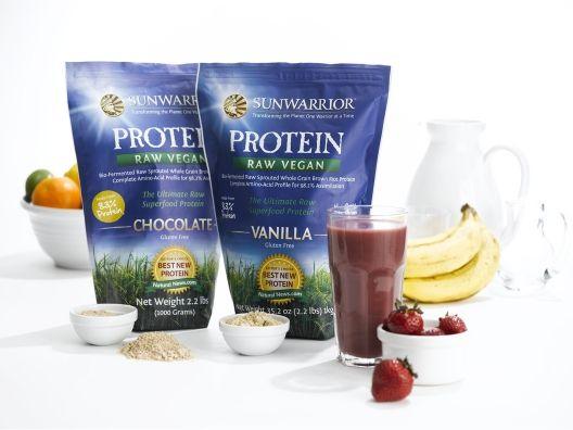 Sunwarrior Protein Powder via Opensky.  Tastes great!