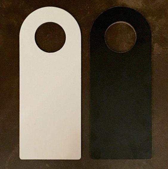 Chalkboard / Whiteboard Doorknob Hanger by HCubedSpecialties