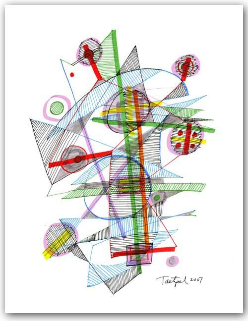 Abstract Pen Drawing 49 by Lynne Taetzsch at ARTBYLT.COM