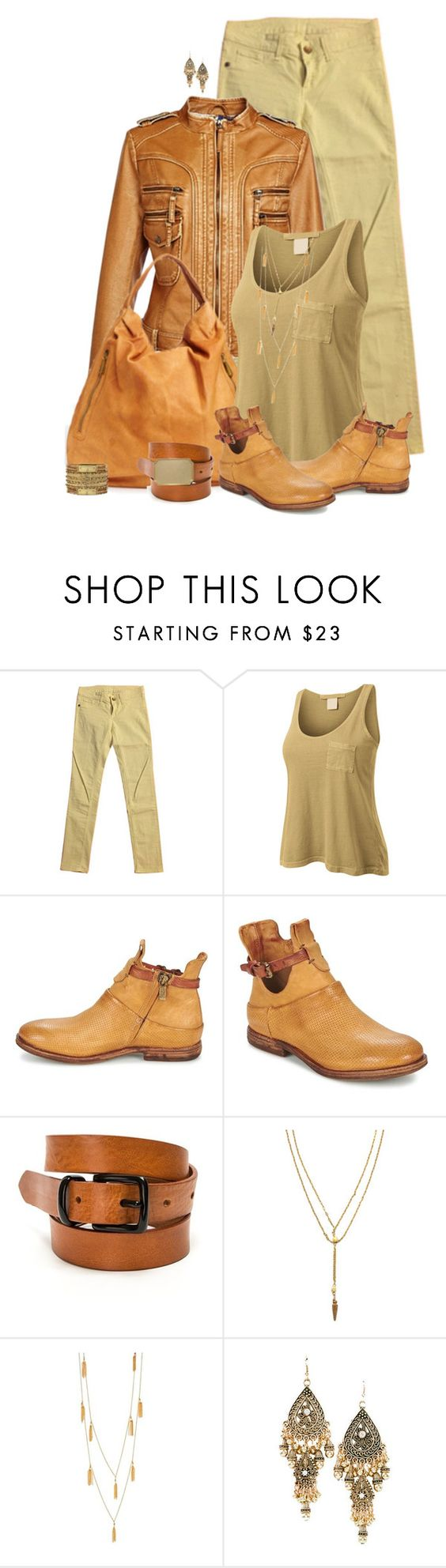 """set"" by vesper1977 ❤ liked on Polyvore featuring Rich & Royal, Charles Jourdan, LE3NO, A.S. 98, Vanessa Mooney, Gorjana, women's clothing, women, female and woman"