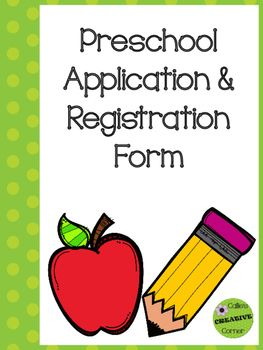 Starting a preschool? Need an application form? This is the application I use every year. Can also be used as a registration form.: