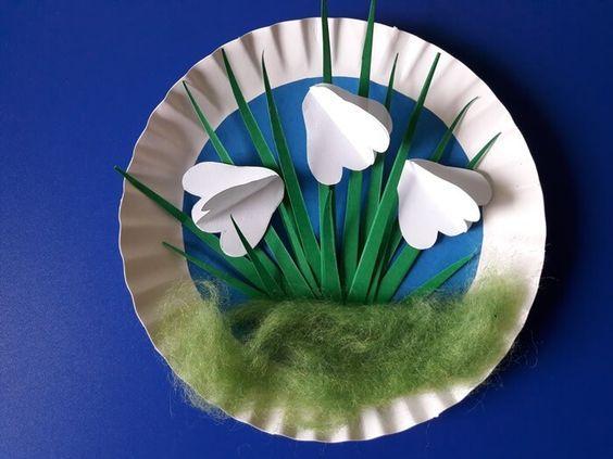 Jak Zrobic Przebisniegi Z Papieru Easter Arts And Crafts Easter Art Easter Sewing Crafts
