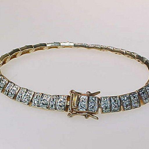 Diamond Chips Vintage Tennis Bracelet