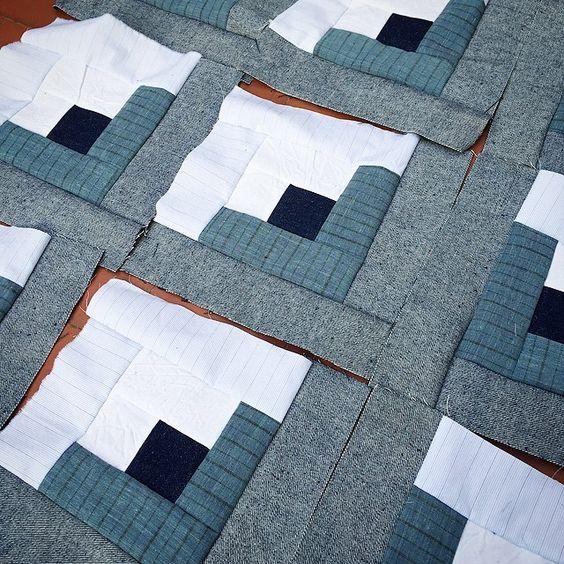 Tengo el espíritu un poco de almazuela, si me viera mi abuela... #almazuela #quilt #patchwork #cabinblock #lamantadelPequeño #sewing