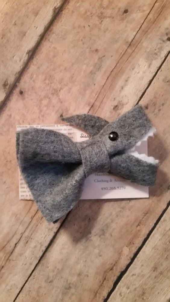 Shark hair Bow, felt bow