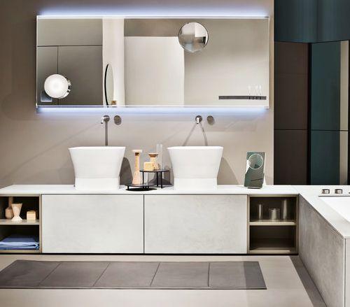 Muebles De Baño Wave:baño: #Lavabos de #baño de apoyo con #grifería de pared y #mueble