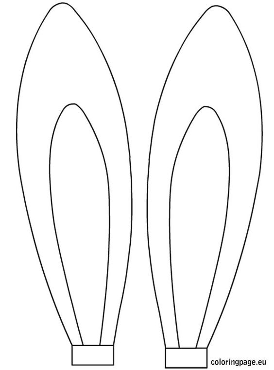 Coloring Page Bunny Ears