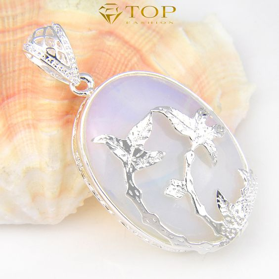 Free shipping - Classic Style Pendant Necklace Hot Sell Jewelry Moonstone Gems Pendant For Women Fine Jewelry P0463(China (Mainland))
