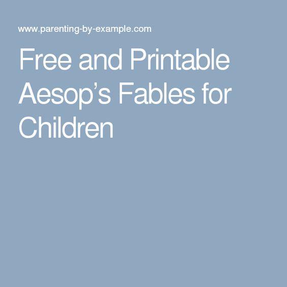 Versatile image regarding printable fables