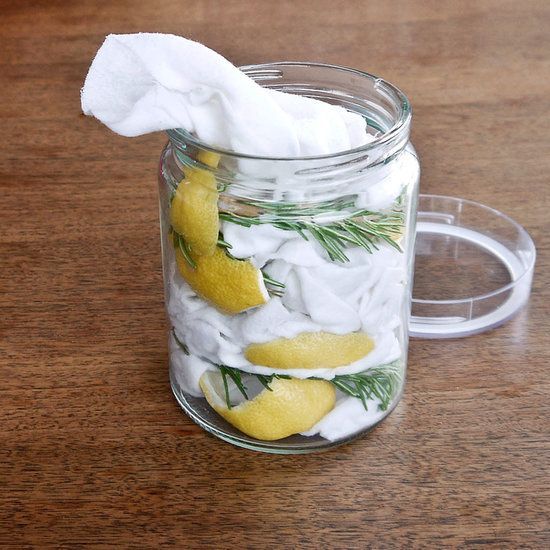 DIY Dusting Wipes (these would make me want to dust more. Just to make the house smell delicious :)