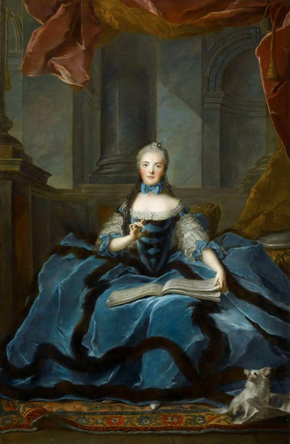 MADAME+ADÉLAÏDE+DE+FRANCE (1732-1800), sixth legitimate child of Louis XV, 1752 by Jean-Marc Nattier (1685-1766).