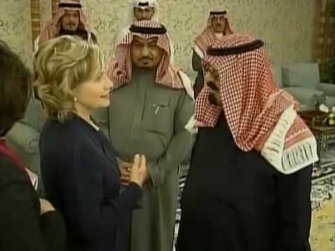 Clinton meets Saudi king after tough talk on Iran