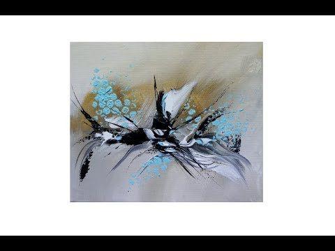 easy acrylic painting for beginners real time abstract einfach malen anfanger echtzeit v 267 youtube idee farbe kunst auf leinwand bild abstrakt schwarz weiß acrylmalerei häuser