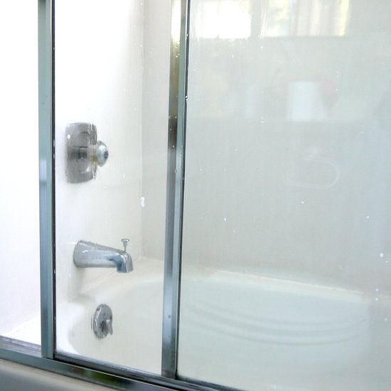 Attack Hard Water Stains With An Epsom Salts Scrub Shower Doors Hard Water Stains Shower Cleaner
