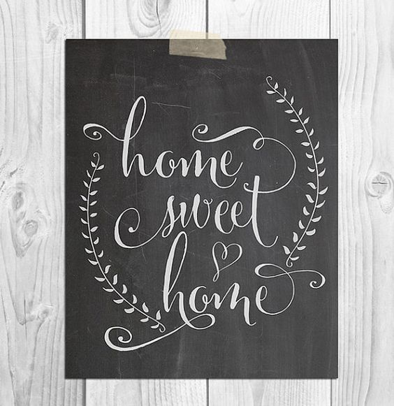 Home Chalkboard Art Ideas: Chalkboard Printable, Printable Art And Sweet Home On