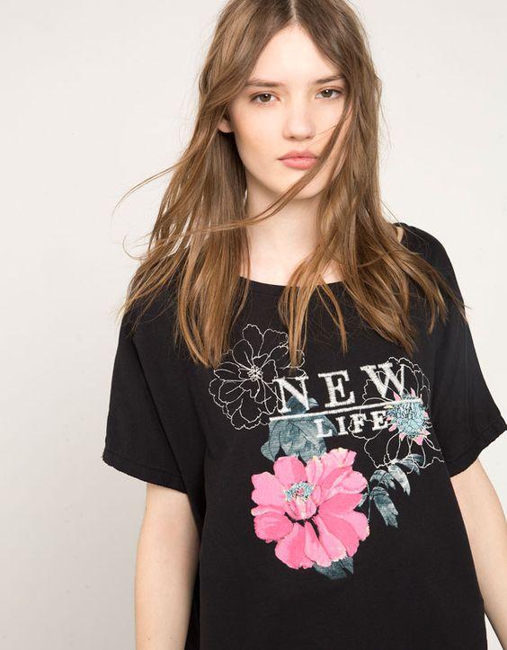 Flowers - T-shirts - Bershka - Woman - Bershka France