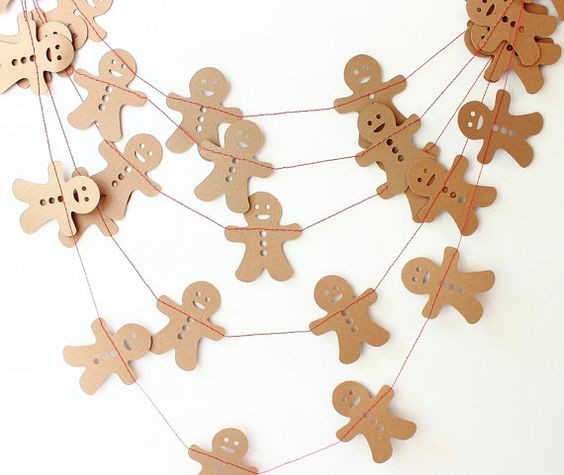 Gingerbread man garland, etsy shop.  May be able to tackle on my own?  Cute and easy.