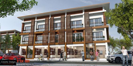 แบบอาคารพาณิชย์ 3 CH 005 | ออกแบบบ้าน แบบบ้านสวย ขายแบบบ้าน แบบบ้านสำเร็จรูป รับเขียนแบบ ตกแต่งภายใน