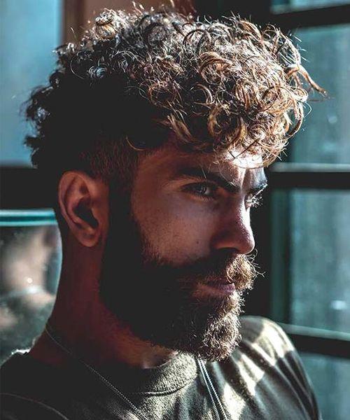 cortes de cabelo masculino cacheado
