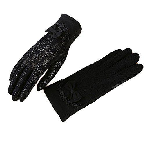 URSFUR Damen Sch/öne Hochwertige Baumwoll Sommer Sonnenschutz Handschuhe Netzhandschuhe spitzenhandschuhe