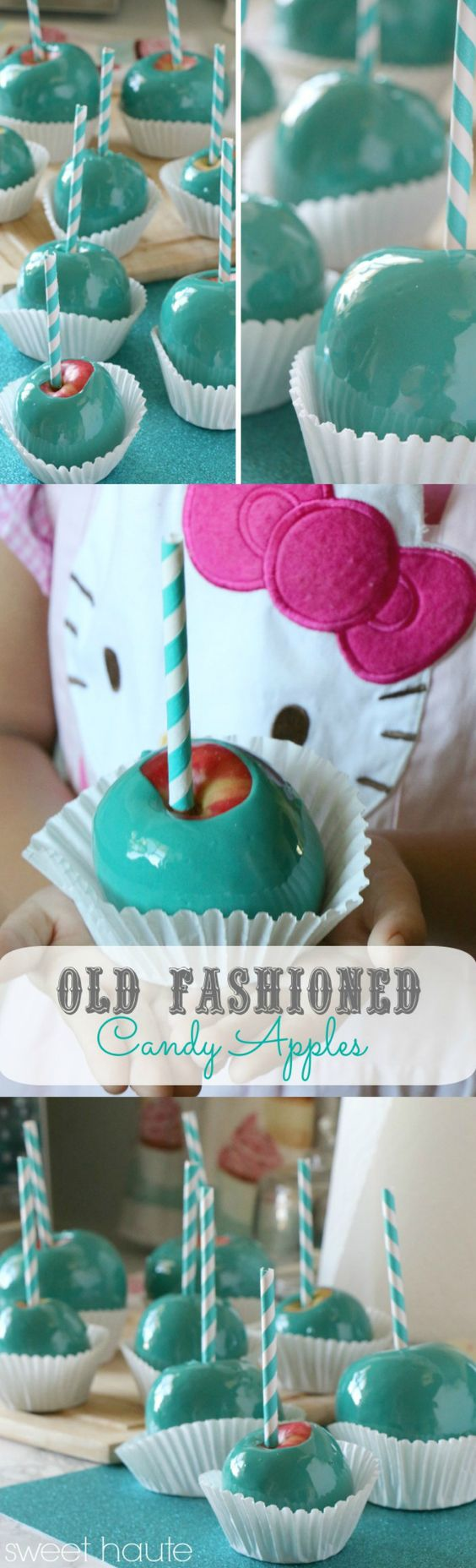 Tiffany Blue Candy Apples- SWEET HAUTE how to make tiffany blue candy apples #candyapplerecipes #recipe #diy #bluecandyapples #candyapples